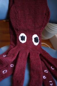 scarf that looks like a kraken